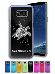 Case For Samsung Galaxy S8+ Plus - Hawaiian Sea Turtle - Personalized Engraving Included