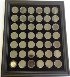 USA Tiny Treasures Llc. Black Display Frame For 42 Morgan Peace Dollar Silver Coins Not Included