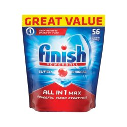 Finish All In One Dishwashing Tablets Regular - 56'S