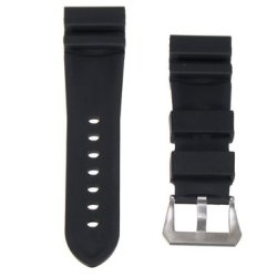 Rubber 26MM Watch Strap Replacement Wristband With Buckle