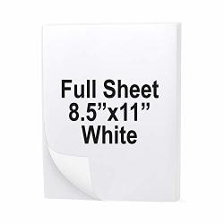 "Buhbo Full Sheet Address Shipping Label 8.5"" X 11"" Sticker Labels For Laser & Ink Jet Printers 100 Sheets"