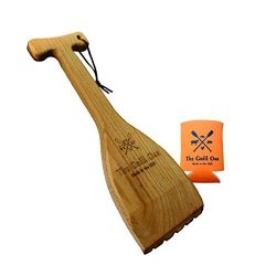 Simply Better The Grill Oar By - Wooden Grill Scraper And Cleaner Premium Red Oak Wood Cleans Top And Between Grates Safe Replac