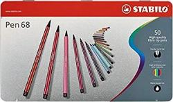 STABILO Pen 68 Metal Tin 50-COLOR Set