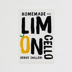 "Limoncello Labels - Retro Design. 3"" X 2"" - 12 Package"