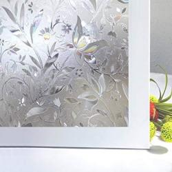 Bloss No Glue Static Cling Window Film Decorative Pattern Design Glass Window Film Privacy Window Covers For Home bedroom bathro