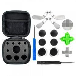 Extremerate Metal Magnetic 18 In 1 D-pads Thumbsticks Joysticks Paddles Hair Trigger Locks T8H Cross Screwdriver Repair Replacement Parts Kits For Xbo