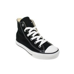 dcd86ab8e1a Converse All Star Chuck Taylor Kids Classic Black Canvas High Top Trainers  - UK 11