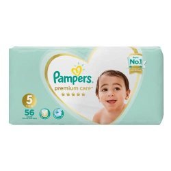 Pampers Premium Care 56 Nappies Size 5 Jumbo Pack