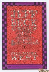 USA Bill Graham Postcard 148 Ad Back Jeff Beck 1968 Dec 15