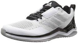 Adidas Men's Freak X Carbon Mid Cross Trainer White metallic Silver black 11 M Us
