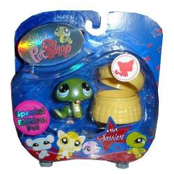 Littlest Pet Shop Assortment 'a' Series 3 Collectible Figure Snake With Basket Special Edition Pet