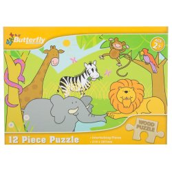 Butterfly - Wooden Puzzle A4 12 Piece 4 Designs