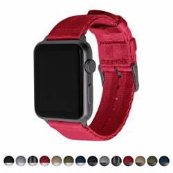 Archer Watch Straps Seat Belt Nylon Watch Bands For Apple Watch Red Space Gray 42MM