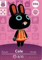 Nintendo Animal Crossing Happy Home Designer Amiibo Card Cole 096 100