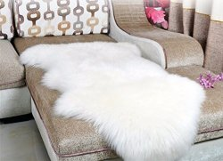 Dikoaina Classic Soft Faux Sheepskin Chair Cover Couch Stool Seat
