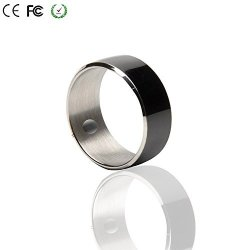 GUSHU Ltd  Smart Ring Cooso R3F Newest Magic Smart Ring Universal For All  Android Windows Nfc Cellphone Mobile Phones black Size 11 One Year Free