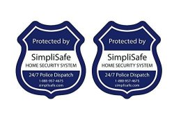 SimpliSafe Window Decals Pack Of 2
