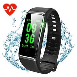 Sprtjoy Fitness Tracker Color Screen Activity Tracker With Heart Rate Monitor Watch IP67 Waterproof Fitness Watch With Female Physiological Reminder