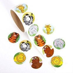 LEORX Stickers Decals For Holiday Birthday - Roll Of Cartoon Animal Style