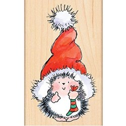 Penny Black Inc. Penny Black 4283K Santa's Hat Wood Mounted Rubber Stamp