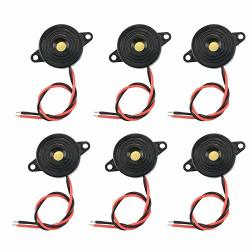 Xnrtop Dc 3-24V Active Piezo Buzzer 90 Db With Industrial Audio Inside 2-WIRE Leads Electric Alarmer 6PCS