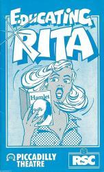 """Shirin Taylor """"educating Rita"""" Donald Burton Willy Russell 1981 London Program"""
