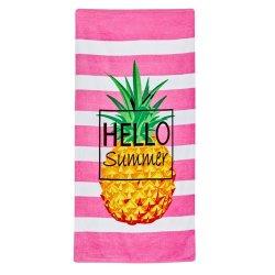 Mainstays - Printed Velour Beach Towel Hello Summer
