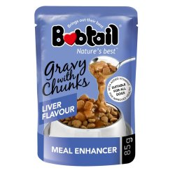 Bobtail - Dog Food Gravy With Chunks 85G Liver