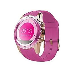 AWOW Smartwatches Bluetooth Heart Rate Smart Watch Cell Phone For Kids With Camera Call Text Notifier Color Pink