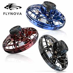 Basein Flynova Flying Spinner Hand Operated Drones For Kids Or Adults - Ufo Flying Toy With 360 Rotating And Shinning LED Lights