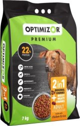 OptiMizor - Premium 2IN1 Dry Dog Food - Moist & Meaty Chicken & Rice 7KG