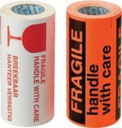 Tower Fragile Stickers FLUORESCENT250 Pack