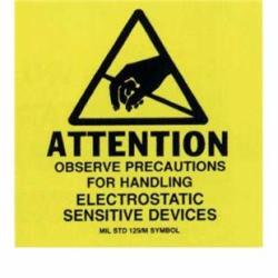 Botron B6727 2 X 2 Awareness Labels Mil-std 129 500 ROLL