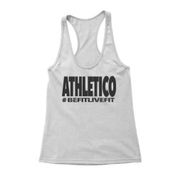 Athletico Befitlivefit Racerback Vest in White & Charcoal
