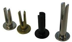 "HANSON RIVET Split Rivet - 9 64"" Diameter X 5 8"" Length 3 4"" Head Diameter Steel Oval Head With A Brass Finish. Pack Of 100 ."