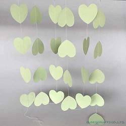 TONYTEO88 Banner Heart-shaped Paper Garlands 4M Colorful Home Wedding Party Banner Hanging Paper Garland Shower Room Door Decora