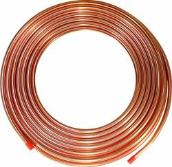 """Ics Industries - 1 4"""" Od Copper Refrigeration Acr Tubing 100 Ft"""