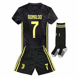 buy popular 4a5a3 eeb16 Away 2018-2019 C Ronaldo 7 Juventus Kids Or Youth Soccer Jersey & Shorts &  Socks Black 9-10YEARS SIZE 26 | R753.00 | Shirts & T-shirts | PriceCheck SA