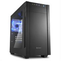 Sharkoon S1000 Atx PC Gaming Case Black With Side Window - USB 3.0 Mounting Possibilities: 1 X 5.25 Or 3.5 External Or 2X 2.5