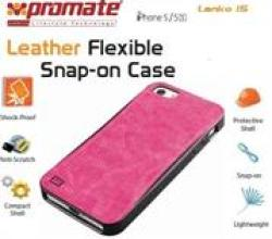 Promate LANKO.I5 Pink Iphone 5 Hand-crafted Leather Case