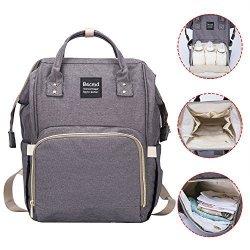 46fa51d7ea Becmd Diaper Bag Large Capacity Diaper Bag Backpack Multi-function Travel  Backpack Nappy Bag Nurse Bag Fashion Mummy Bag Waterpr