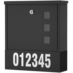 Incly Locking Mailbox Wall Mount For Outside 14.3 X 4.1 X 11.8 Inch Metal Key Large Capacity