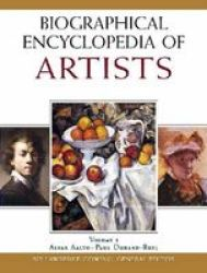 Biographical Ency Artists Hardcover New