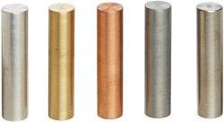 Ajax Scientific 5 Piece Metal Specific Gravity Cylinder Set 10MM Diameter X 40MM Length