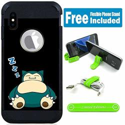 Limited Editions For Apple Iphone Xr Defender Rugged Hard Cover Case - Pokemon Snorlax Zzz