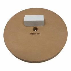 """8"""" 3 4"""" Width Leather Honing Wheel - Fits 5 8"""" Arbor - Buffing Compound Incl"""