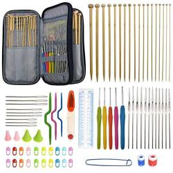 94 Pieces Crochet Hooks & Knitting Needles Set Kit - Portable Case Contains All The Kntting & Crochet Accessories Fit Any Projec