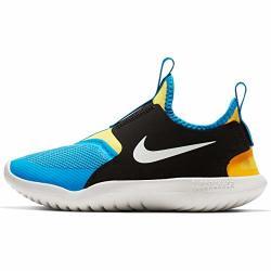 Nike Kids' Preschool Flex Runner Running Shoes 13K Black yellow royal