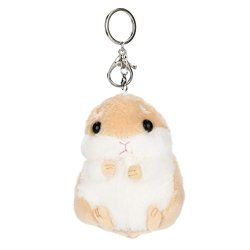 JPOQW Plush Toy Hamster Pendant Key Chain Clasp Ring Handbag Decor Kids Toys Brown