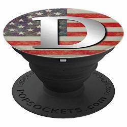 Vintage Usa Patriotic American Monogram Letter D